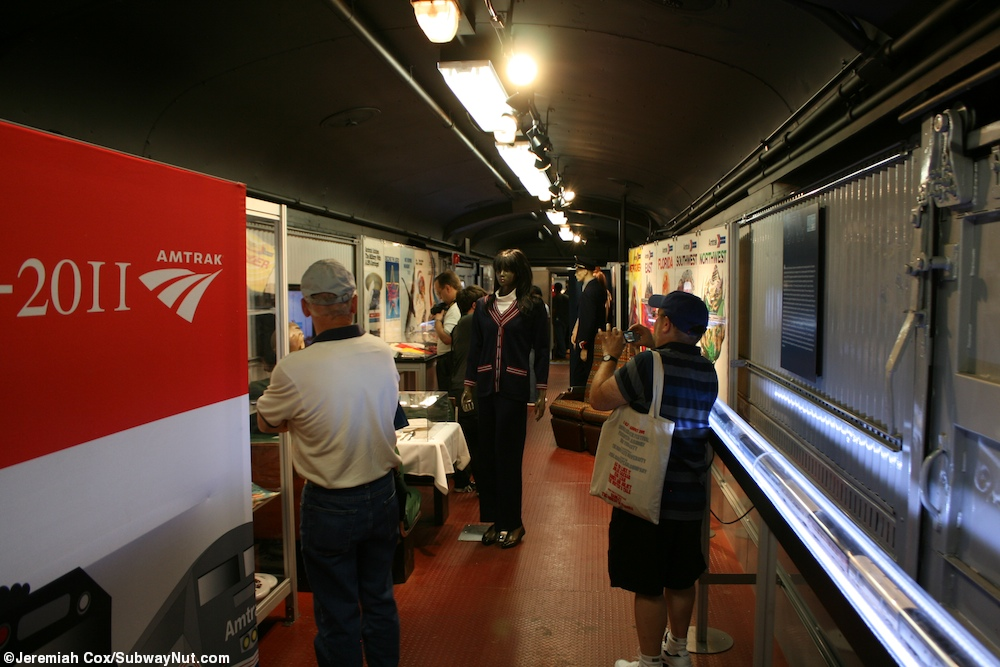 amtrak 39 s 40th anniversary exhibit train on the subwaynut. Black Bedroom Furniture Sets. Home Design Ideas