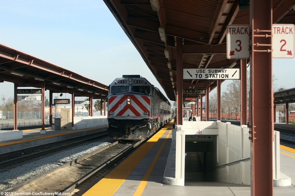 San Jose Diridon Caltrain Amtrak Capitol Corridor Coast