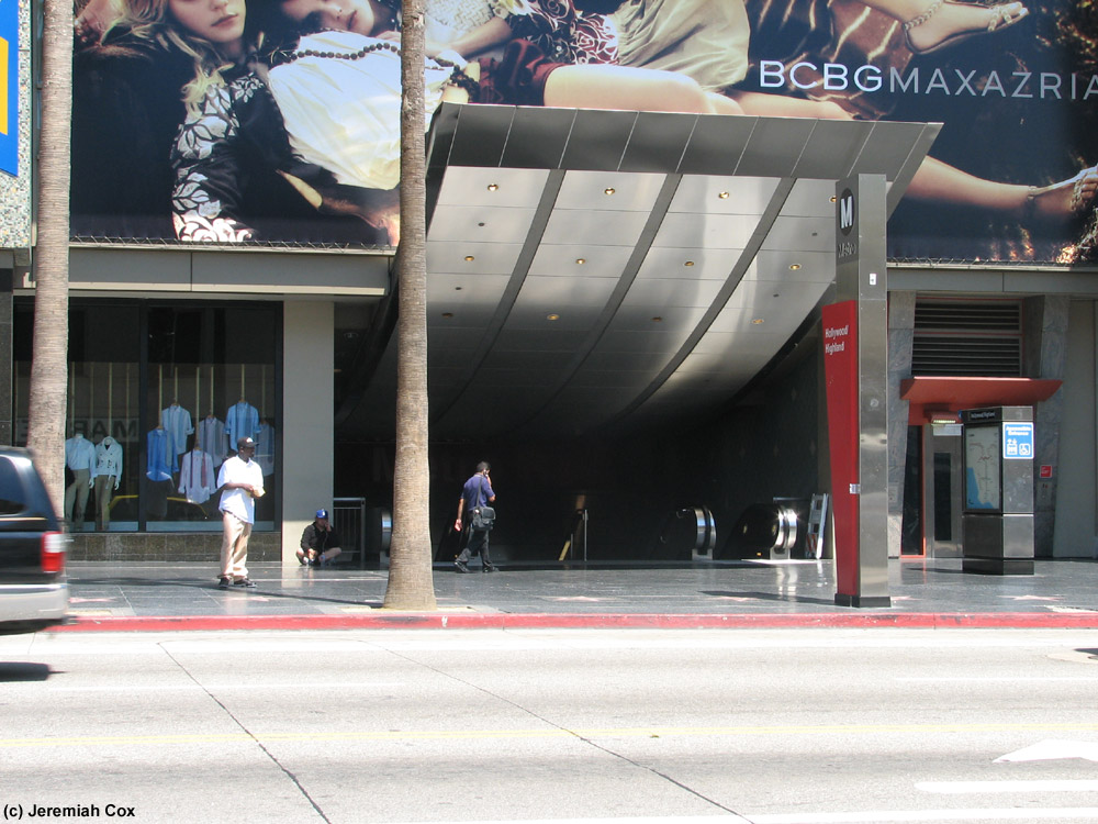 Hollywood Highland La Metro Red Line The Subwaynut