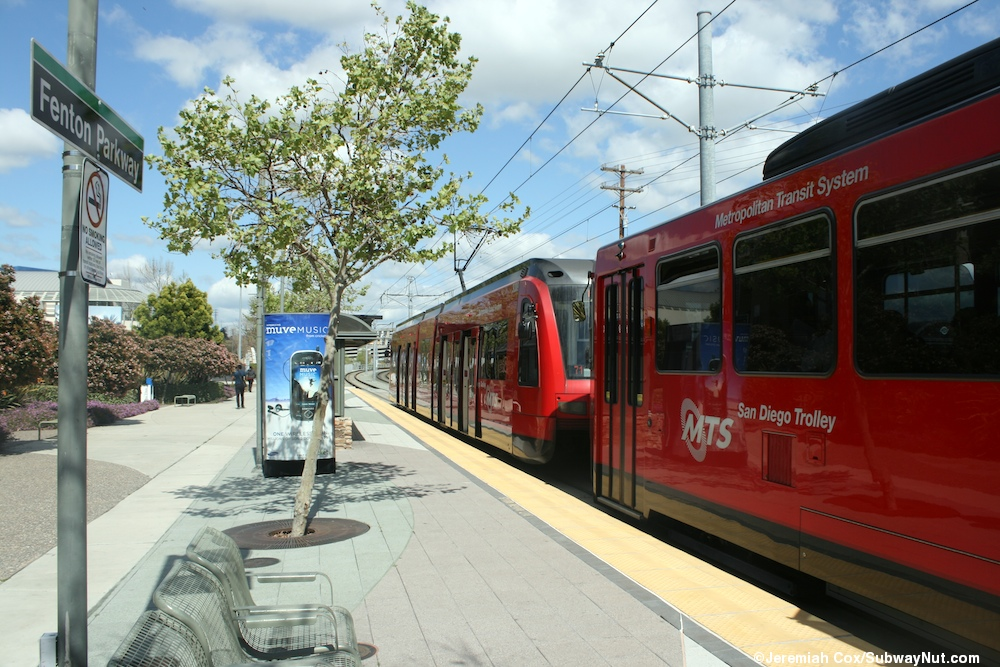 fenton parkway san diego trolley green line the subwaynut. Black Bedroom Furniture Sets. Home Design Ideas