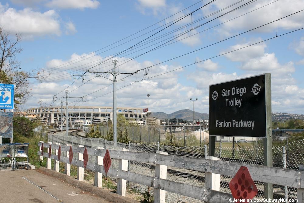 fenton parkway san diego trolley station