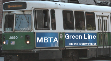 MBTA Green Line on the SubwayNut