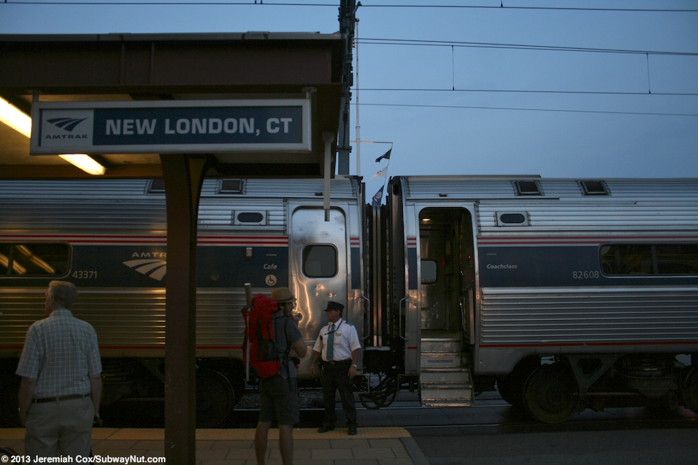For this trip to New London, you can get on board at New York, NY - Penn Station (NYP). Moreover, get off the train at New London, CT - Union Station (NLC). Most Amtrak stations in major cities, and many other stations across the country, are accessible to passengers with a disability.3/5(12).
